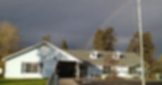 Country Kids building with rainbow