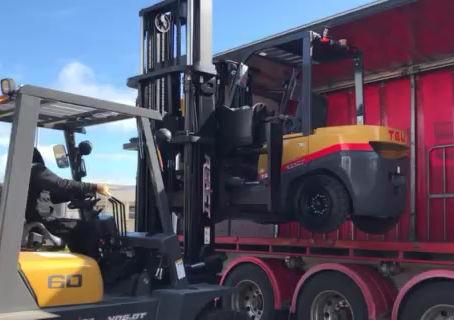 TEU Dual Wheel Forklift
