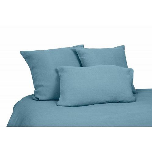 Taie oreiller - Bleu stone