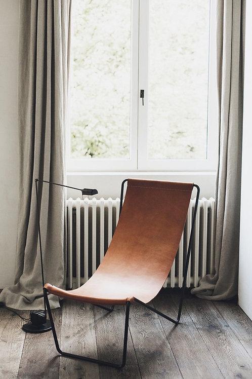 Chaise cuir - Brun