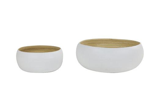 Saladier bambou - Blanc