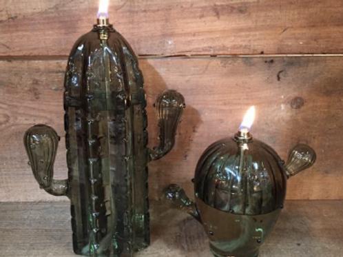 Set 2 lampes à huile cactus