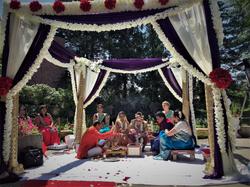 ceremony - courtyard patio in munduup ce