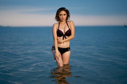 Models at Beach