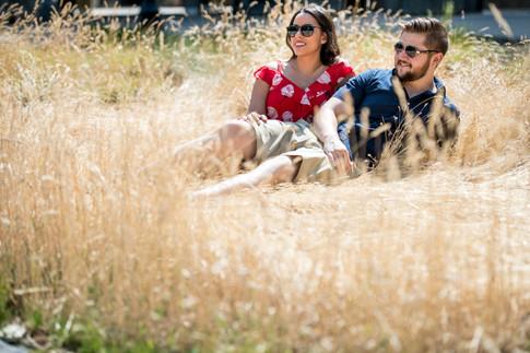 Relaxing in the hay