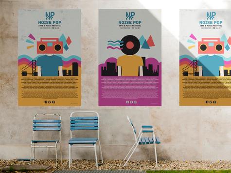 Noise Pop Poster Variations