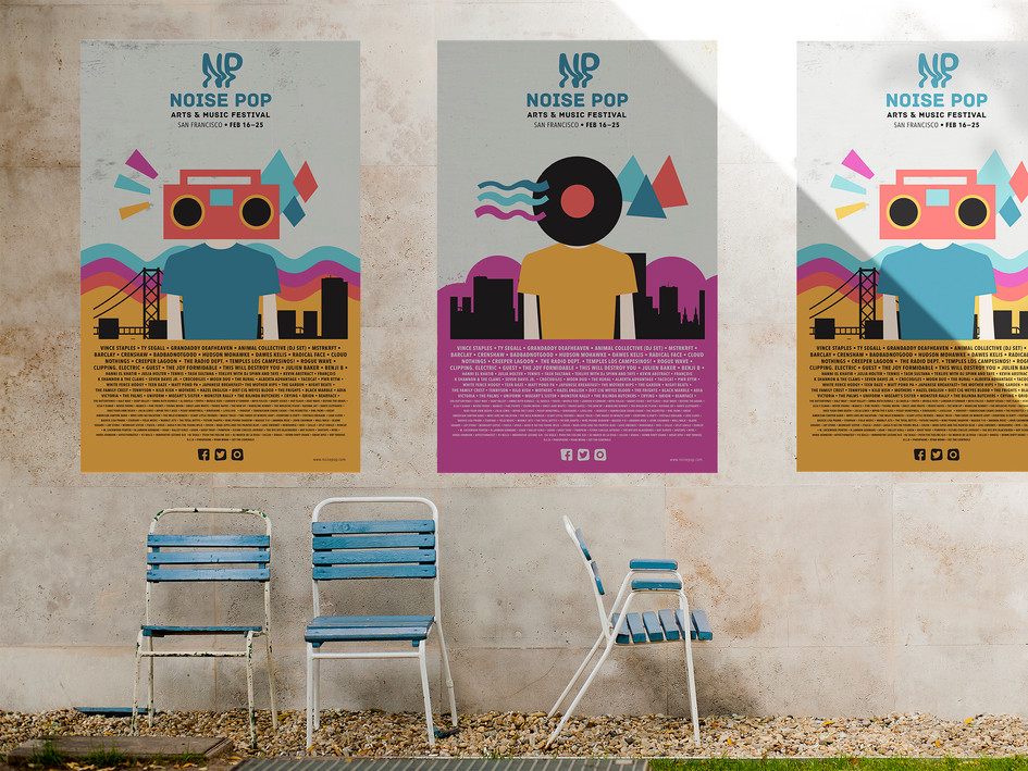 Noise Pop Poster Variations