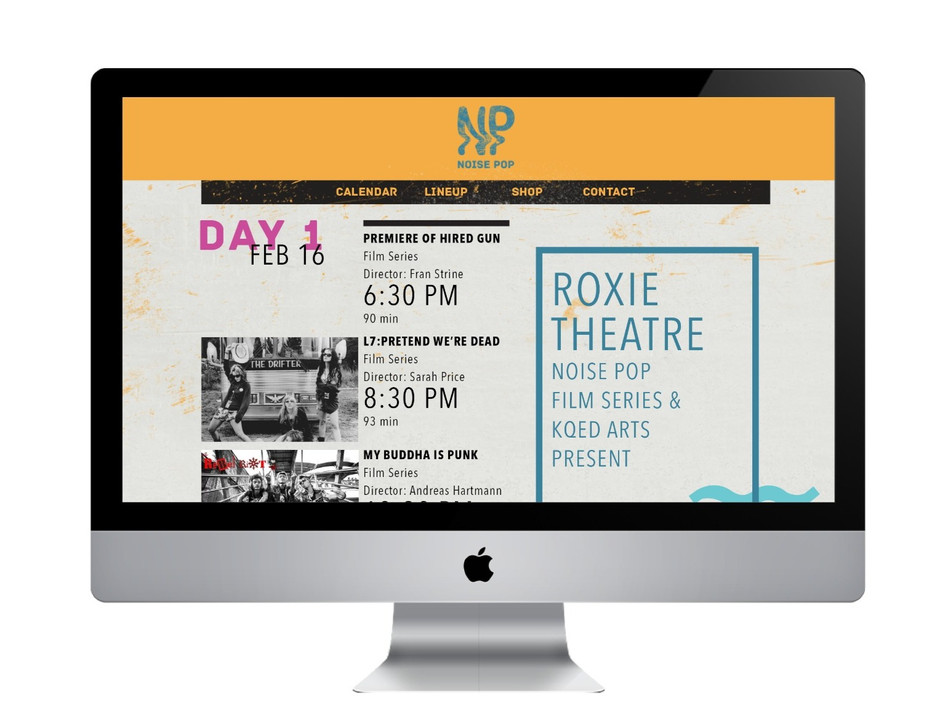 Website Festival's Dates and Events