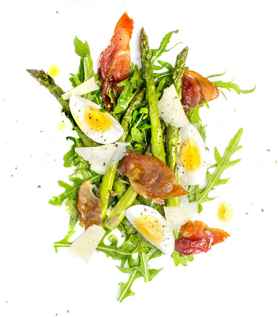 Roasted Asparagus and Prosciutto Salad