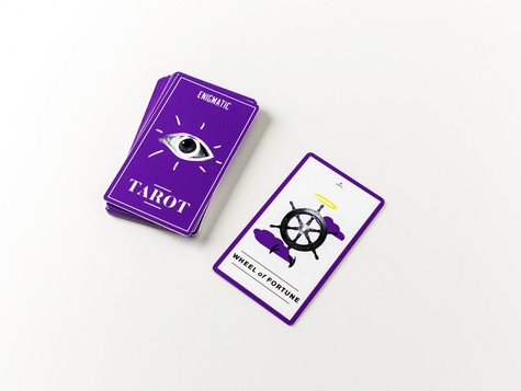 Tarot Card Front and Back