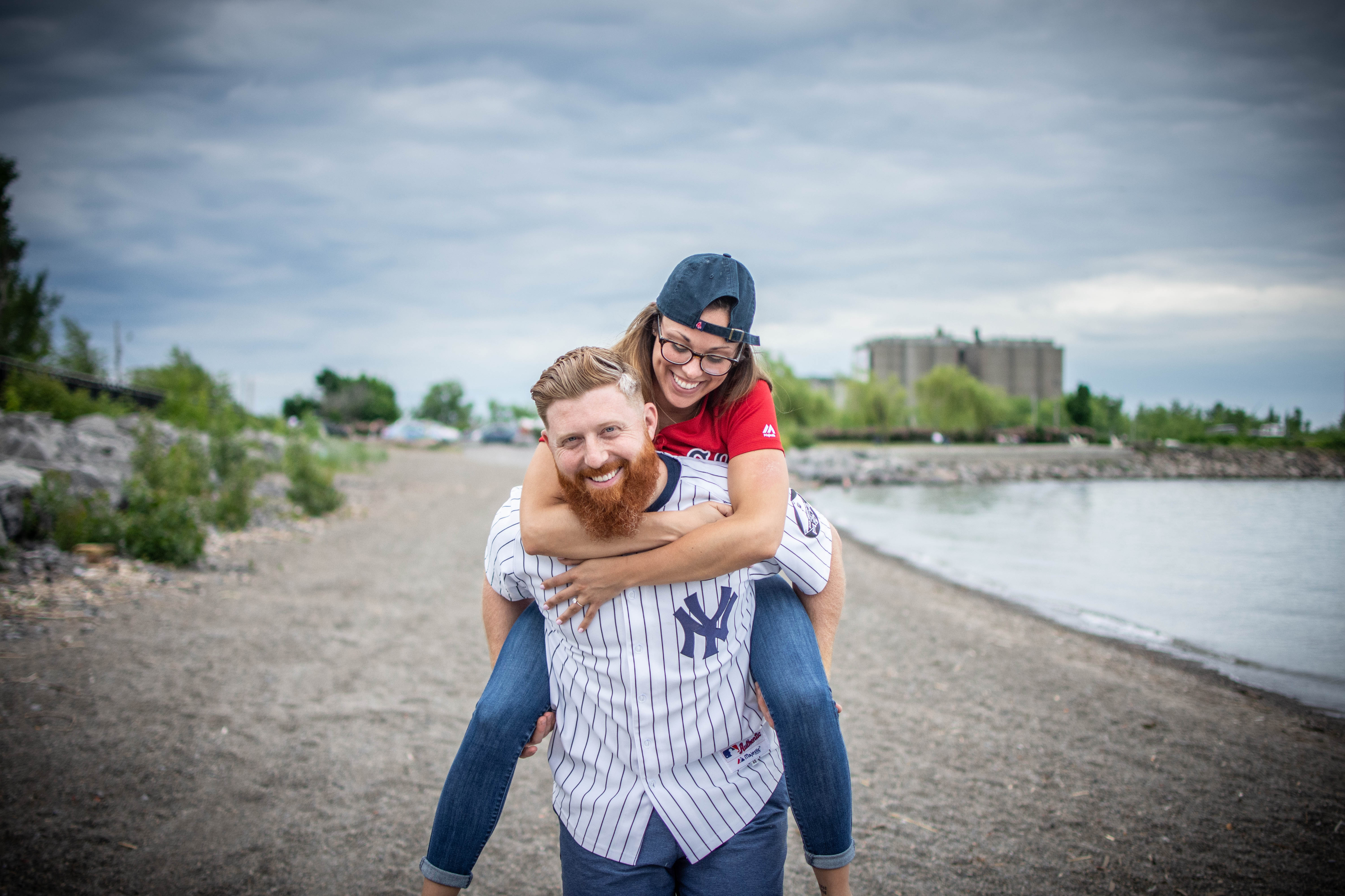 Buffalo portrait engagement photo