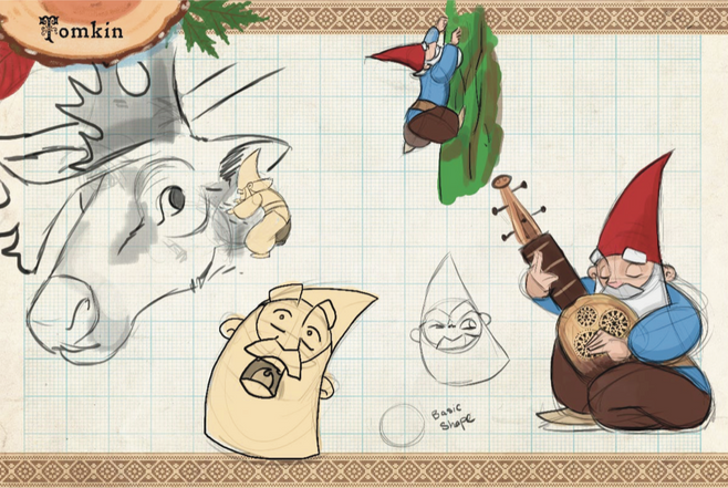Gnomes! Tomkin Sketches