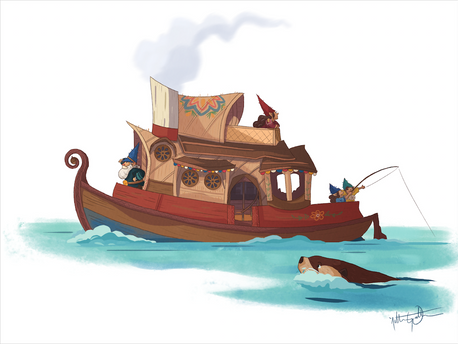 Gnome House Boat