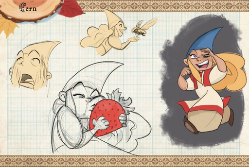 Gnomes! Fern Sketches
