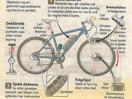 Tid for vårsjekk av sykkelen