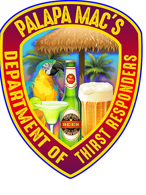 """Official Palapa Mac's """"Thirst Responder"""" Sticker"""