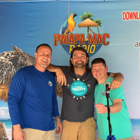 Adam Folden (Blue Chair Bay Rum), Mike Nash (Music Artist), and DJ Palapa Mac