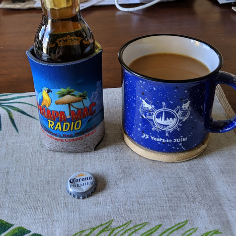 Beer and Coffee... You can't drank all day unless you start in the mornin'