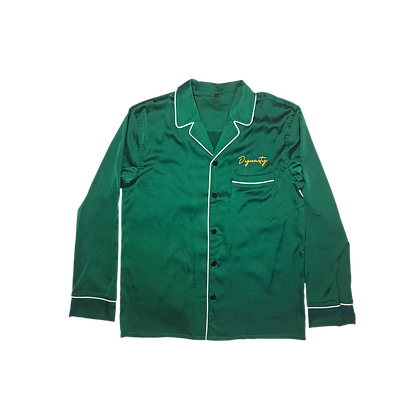 Emerald Satin Bowling Shirt — The Dynasty Continues