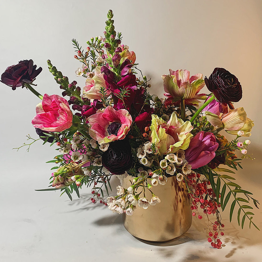 A bouquet of fresh and natural flowers from black-owned Olivee Floral, located in Brooklyn, NY