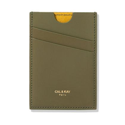 Broadway Slim Wallet (Matte Olive) — Cal & Kay