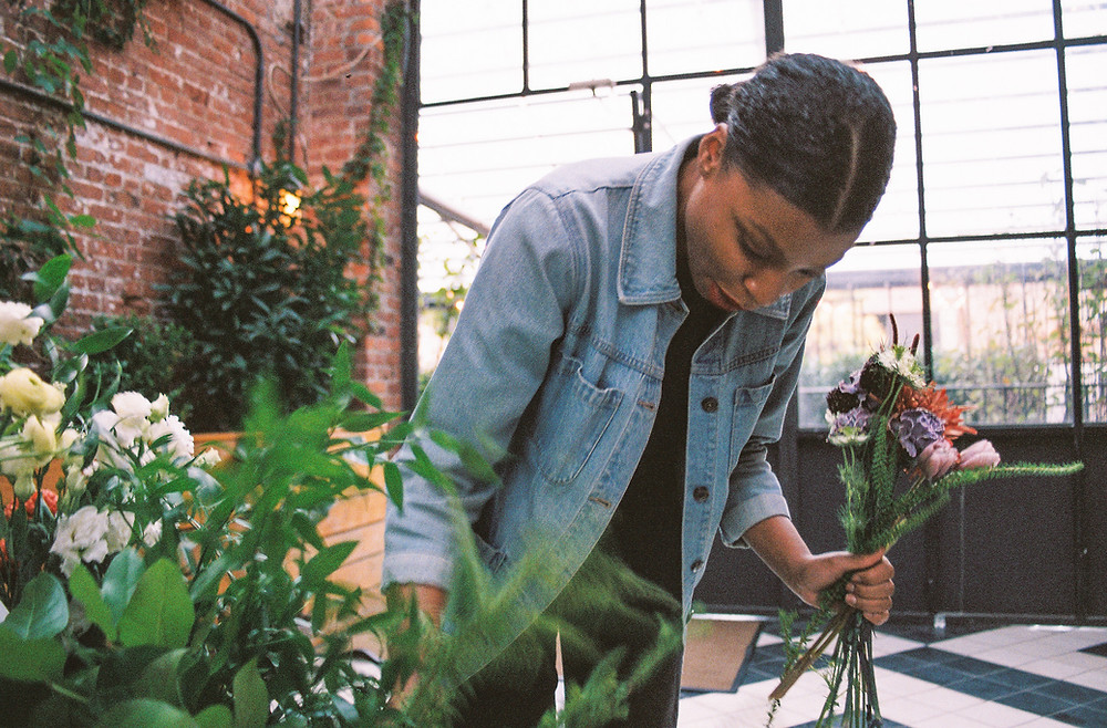 Black-owned florist Olivee Floral. Support Black-owned businesses this Valentine's Day