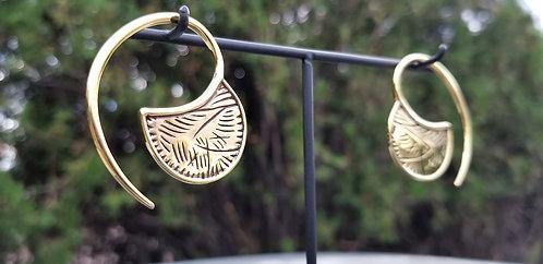 Yellow Brass ear weights by Tawapa