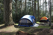 Camping and skydiving in Qualicum