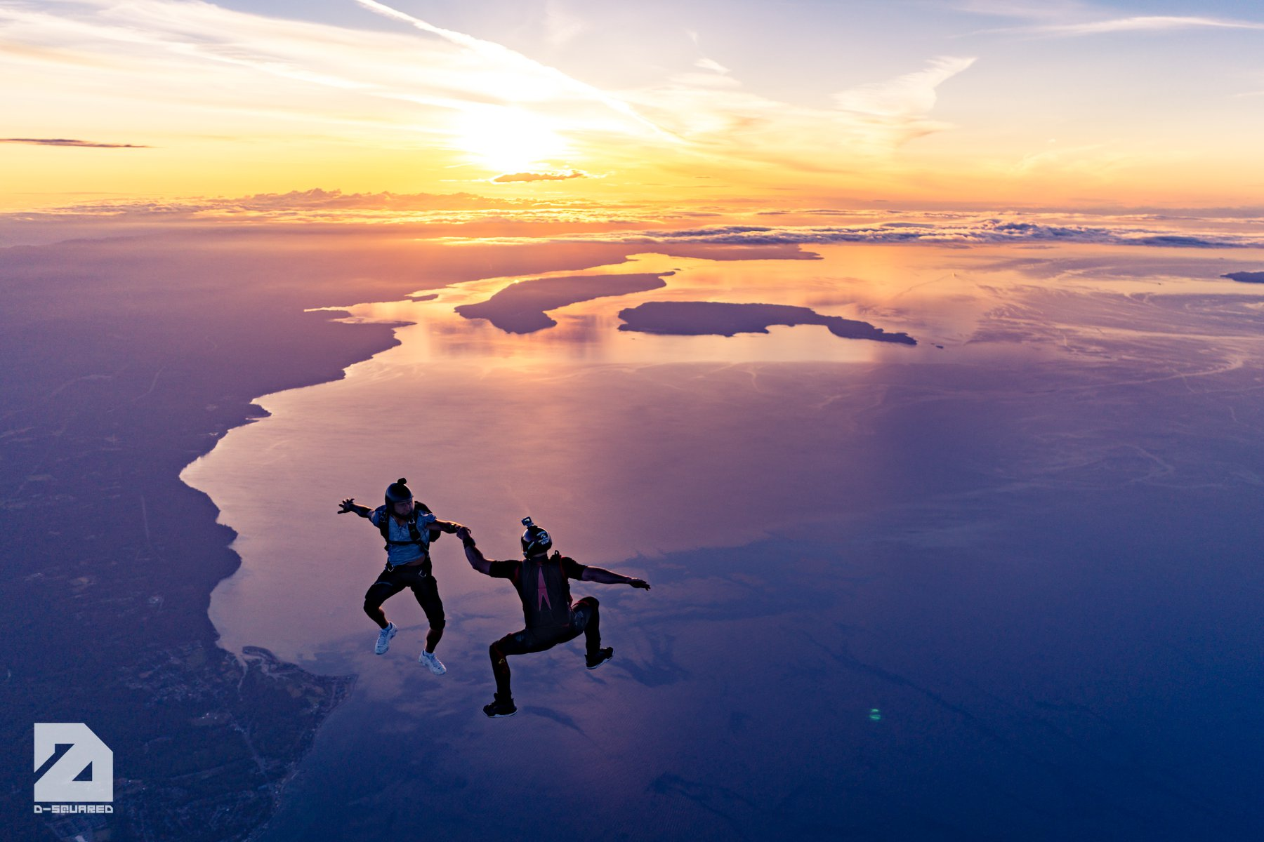 Sunset Skydives on Vancouver Island