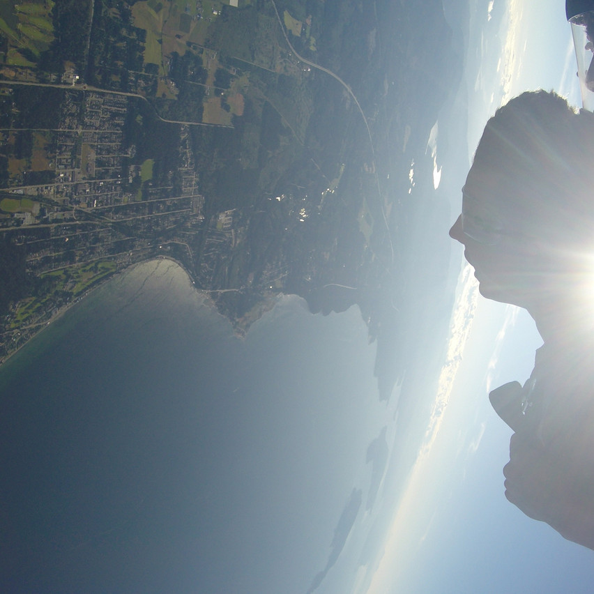 Miles of coast line and views of the West Coast with Skydive Vancouver Island