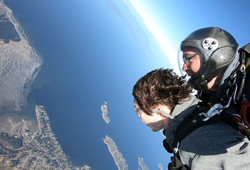 Tandem Skydive Over Vancouver Island
