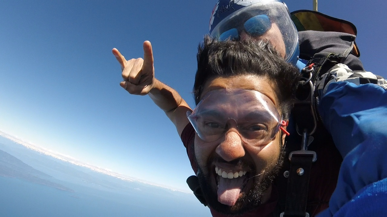 Skydive on Vancouver Island