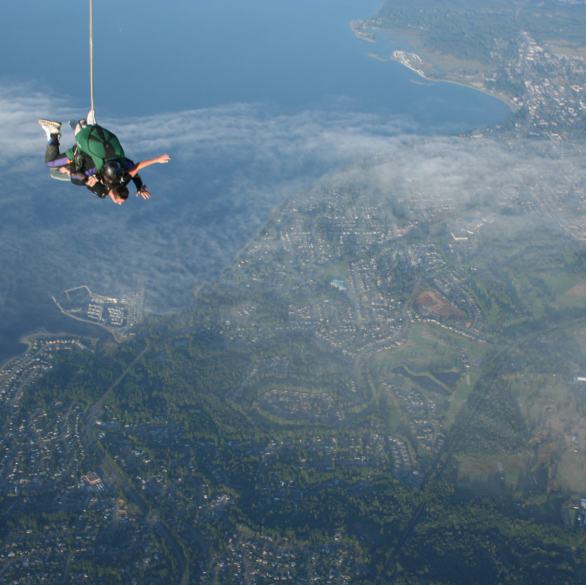 An experience like no other on Vancouver Island at Skydive Vancouver Island