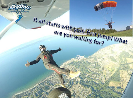 Your First Skydive: Are There Options?