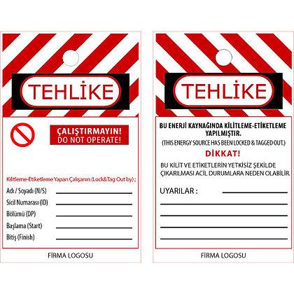 PVC Kaplı Özel Kilitleme Etiketi