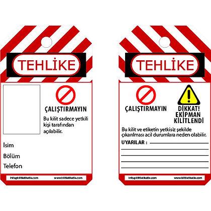 Kişiselleştirilebilir Kilitleme Etiketi (Türkçe)