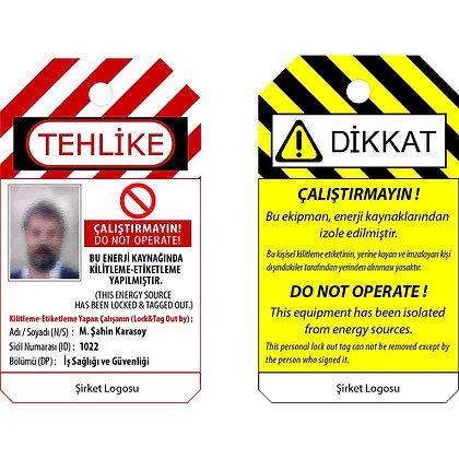 Şirket Logolu Kişiselleştirilebilir Kilitleme Etiketi (Türkçe)