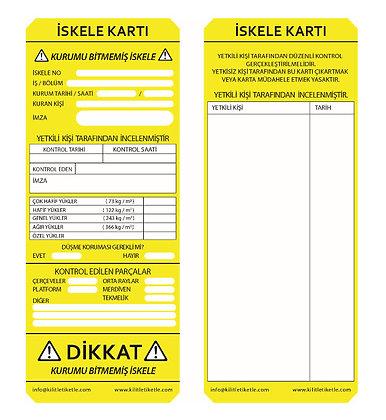 İskele Etiketi - Sarı (Türkçe)