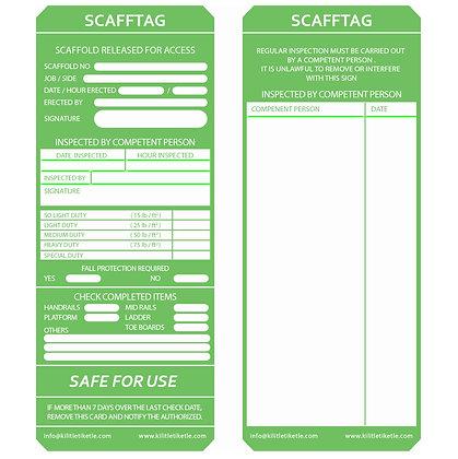 İskele Etiketi - Yeşil (İngilizce)