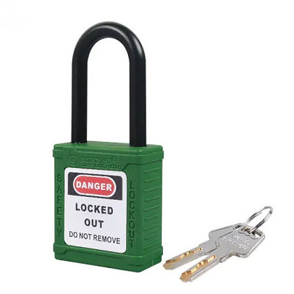 38mm Plastic Safety Padlock (Yeşil)