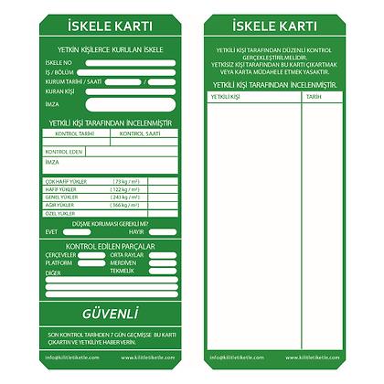 İskele Etiketi - Yeşil (Türkçe)
