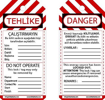 Kilitleme Etiketi (Türkçe - İngilizce)