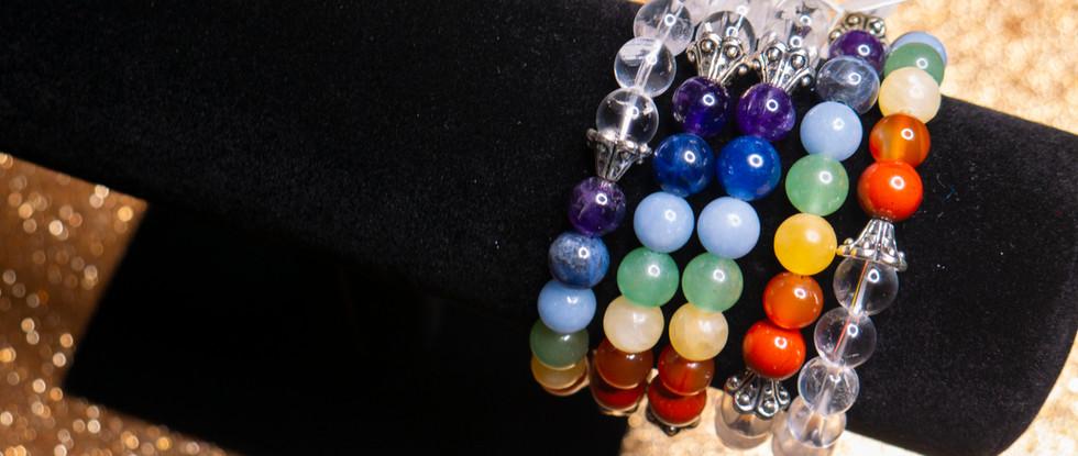 Clear Quartz Chakra Bracelets .jpg