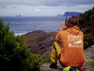 Kajakimatk rahutul Tasmaania lõunarannikul