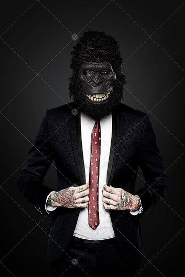 Gorilla Man With Suit