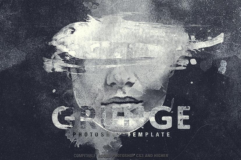 Grunge Photoshop Template