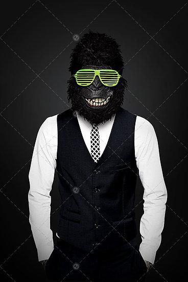 Gorilla Man With Disco Eyeglasses