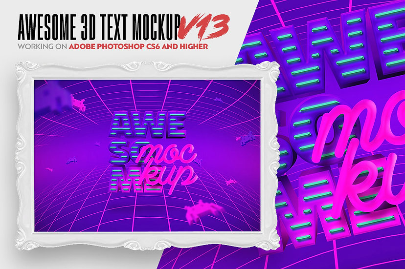 Awesome 3D Text Mockup V13