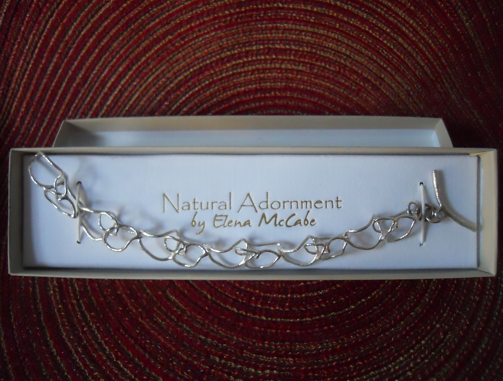 Abstract Link Bracelet Won by Susan of Long Island