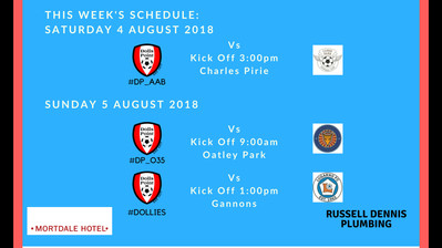 Game Schedule for 4 & 5 August, 2018